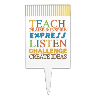 Teacher Words To Live Byy Cake Topper