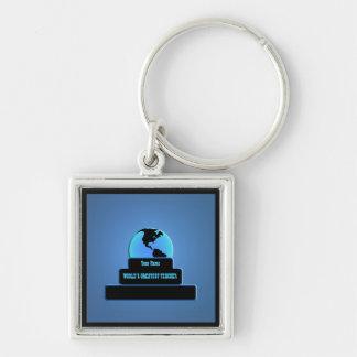 Teacher World's Greatest Award Blue Custom Key Key Chains