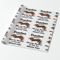 Teacher Wrapping Paper