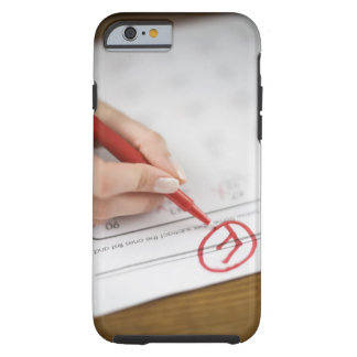 Teacher writing F grade on worksheet Tough iPhone 6 Case