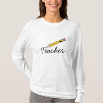 Teacher Yellow Pencil T Shirt