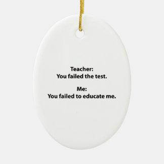 Teacher : You Failed The Test Ceramic Ornament