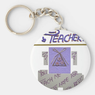 Teacher You Teach Me To Hope for the Best.png Keychain