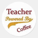 Teacheri accionó por el café etiquetas redondas