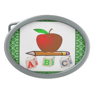 Teachers' ABC's Personalize Belt Buckle