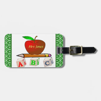 Teachers' ABC's Personalize Luggage Tag