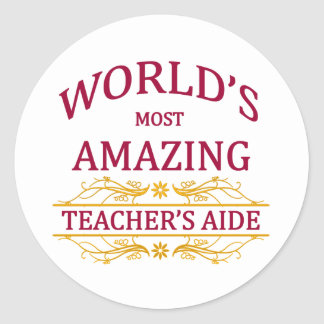 Teacher's Aide Classic Round Sticker