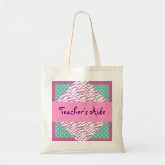 TEACHER'S AIDE Diamond Set Pattern Gift for Her Tote Bag