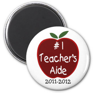 Teacher's Aide Magnet, with dedication 2 Inch Round Magnet