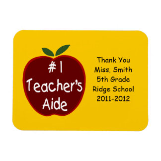 Teacher's Aide Magnet, with dedication Magnet