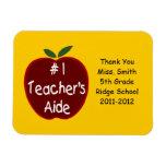 Teacher's Aide Magnet, with dedication Rectangular Photo Magnet