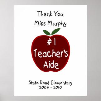 Teacher's Aide Signature Poster