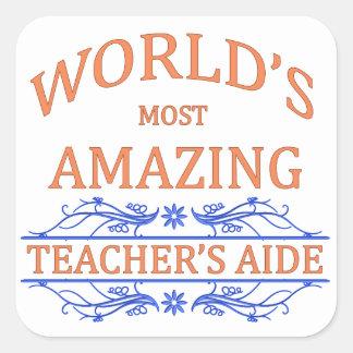 Teacher's Aide Square Sticker
