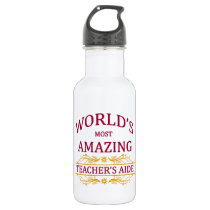 Teacher's Aide Stainless Steel Water Bottle