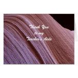 Teacher's Aide Thank You Sandstone Canyon Swirl Card