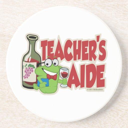 Teacher's Aide (Wine) Beverage Coaster