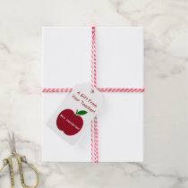 Teacher's Apple Back To School Personalized Gift Tags