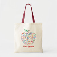 Teachers Apple Book Bag
