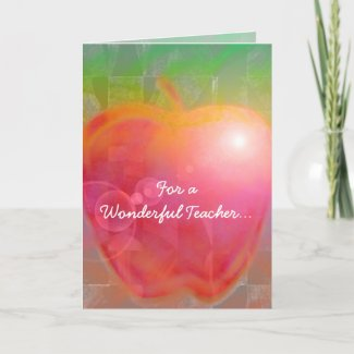 Teacher's Apple Cards