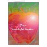 Teacher's Apple Cards