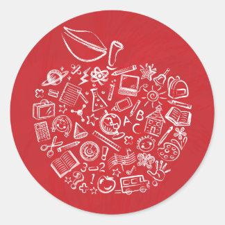 Teachers Apple Doodle Sticker