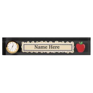 Teacher's Apple fun name plate