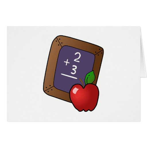 Teacher's Apple Greeting Card