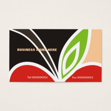 Professional Business Teacher's Apple Heart Business Card-Peach Business Card