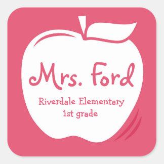 Teacher's Apple Label Square Sticker
