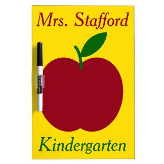 Teacher's Apple Personalized Dry-Erase Board