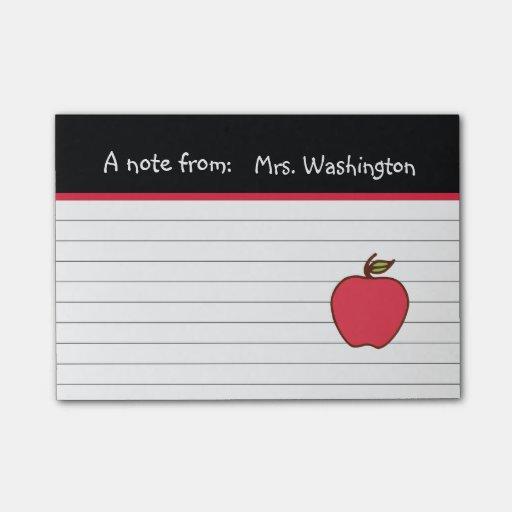 Teacher's Apple Post It Notes Post-it(r) Notes