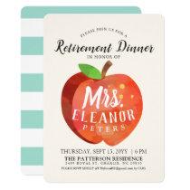 Teacher's Apple Retirement Dinner Mint Invitation