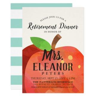 Teacher's Apple Retirement Dinner | Party Invite