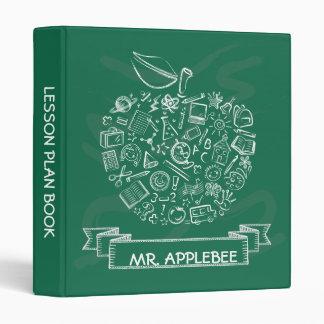 Teachers Apple School Doodles Binder