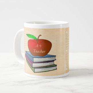 Teacher's Apple Stack of Books Customize Giant Coffee Mug