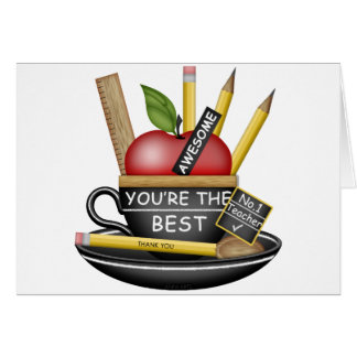 Teacher's Apple Teacup Card