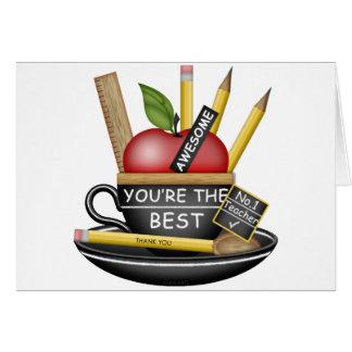 Teacher's Apple Teacup Card
