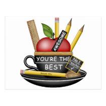 Teacher's Apple Teacup Postcard