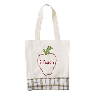 Teachers Apple Zazzle HEART Tote Bag