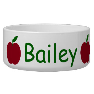 Teacher's Apples Personalized on White Bowl