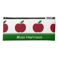 Teacher's Apples Personalized Pencil Case