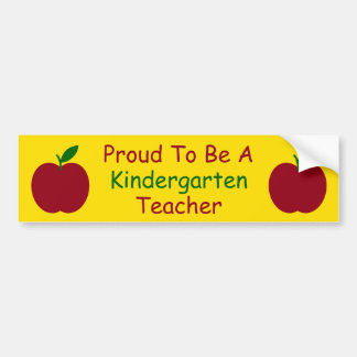Teacher's Apples Red Green Yellow Personalized Car Bumper Sticker