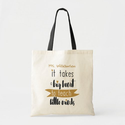 Teachers Appreciation Personalized Tote Bag Gift