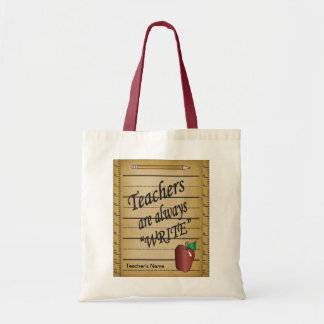 Teachers are always Write   DIY Name Tote Bag
