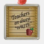 Teachers Are Always Write Ornament
