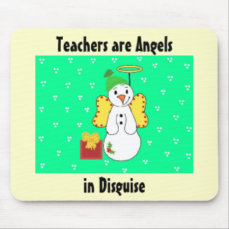Teachers are Angels Message Mouse Pad