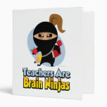 Teachers Are Brain Ninjas 3 Ring Binders