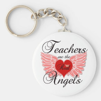 Teachers Are The Real Angels Keychain
