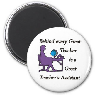 Teacher's Assistant 2 Inch Round Magnet