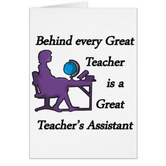Teacher's Assistant Card